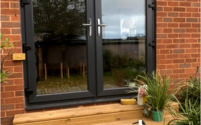 Installing Grey French Doors