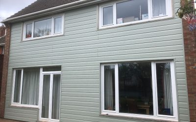 Foretex cladding in sage green