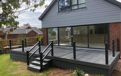 Cladding, patio doors and decking